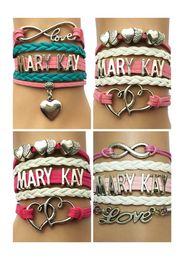 Wholesale Mary Cosmetics - Wholesale-Drop Shipping Infinity Love Mary Kay Bracelet- Custom Cosmetics Women Friendship Gift