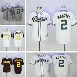 2017 johnny manziel jerseys Chaussures Chaussures de sport San Diego Padres 2 # Jerseys Majestic Johnny Manziel Authentic Baseball Jersey budget johnny manziel jerseys