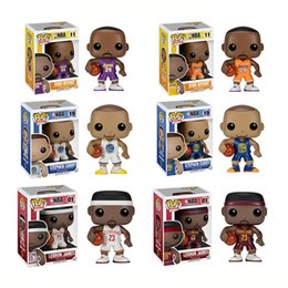 Wholesale High Doll Fashion - High quality celebrity model dolls Funko POP Q edition 6 doll ornaments basketball James Kobe No. 23 Vinyl Model