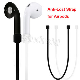 Wholesale Lanyard Loop - For Apple Airpods Headphones Anti Lost Strap Loop String Rope for Air Pods Bluetooth Earphone Silicone Cable Cord Accessories Cheapest