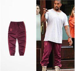 Wholesale Women S Trousers Hip Hop - TOP HOT ! Kanye west Season 4 Crewneck Sweatpants CALABASAS season Casual Pants Men Women Hip Hop loose 4 Pablo trousers yeezus palace