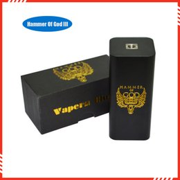 Wholesale Electronic Cigarette Mod Mech - Wholesale- New Arrivel Electronic cigarette hammer of god V3 Box Mods E Cig Mech box Mods for RDA RBA Atomizer fit 4pcs 18650 battery