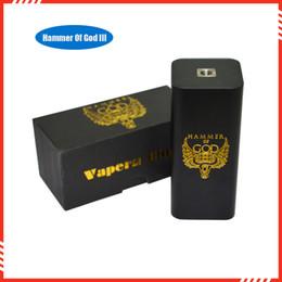 2019 god mod box All'ingrosso-New Arrivel sigaretta elettronica martello di Dio V3 Box Mods E Cig Mech box Mods per RDA RBA atomizzatore misura 4 pezzi 18650 batteria god mod box economici