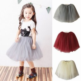 Wholesale 4t Girls Fall Clothes - Retail 2017 Autumn Girls Skirts Family Matching Outfits 3 Layer Gauze Long Fluffy TUTU Mum Daughter Skirts Fall Clothes E8220