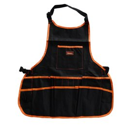 Wholesale Tools For Electricians - Wholesale-14 Pockets Multifunctional Polyester Tool Bag Electric Tools Apron Electrician Bag For Tools Free Shipping HW085