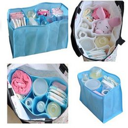 Wholesale Baby Diaper Nappy Bag Bottle - Wholesale- HOT Baby Diaper Nappy Water Bottle Changing Divider Storage Organizer Bag Liner