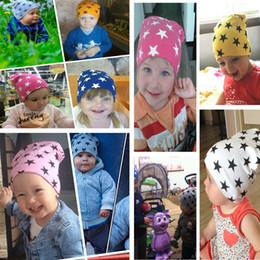 Wholesale Cotton Children S Hats - Fashion Baby boys girls beanies Caps Hats Children 's hat star color head cap baby cotton hat 1037