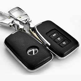 Wholesale Lexus Key Casing - Leather Car styling Key Cover Case For Lexus NX GS RX IS ES GX LX RC 200 250 350 LS 450H 300H Auto Accessories