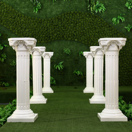 Wholesale Wholesale Columns For Weddings - White Plastic Roman Columns Road Cited For Wedding Favors Party Decorations Hotels Shopping Malls Opened Welcome Road Lead