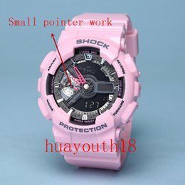 Wholesale Original G Watch - AAA Top men G 100 Sports led Watches LED Digital 110 Wristwatch Waterproof Shock Watch 50m All function Work with Original Box