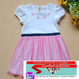 Wholesale Ruffle Children Clothing - Summer New Girl Dress Five-pointed star pattern sleeveless lace Gauze Princess Dress kids clothing