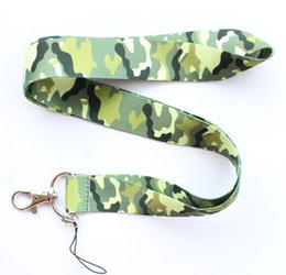 Wholesale Camouflage Lanyards - Small wholesale New 10pcs Camouflage grain mobile Phone card lanyard neck straps gifts free shipping