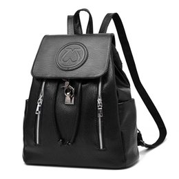 Wholesale Tiding Leather Bag Men - Shoulder bag 2017 new tide female backpack spring summer embellishment fashion casual women PU Leather Mochila bag
