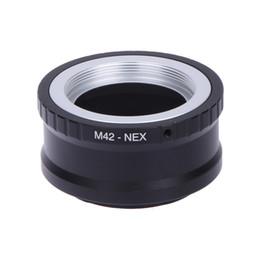 Wholesale Nex 5r Lens - Lens mount Adapter Ring M42-NEX For M42 Lens And SONY NEX E Mount body NEX3 NEX5 NEX5N NEX7 NEX-C3 NEX-F3 NEX-5R NEX6 PRR04
