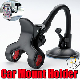 Wholesale Suction Cell - Car Mount Holder Long Arm Universal Windshield Dashboard Cell Phone Car Holder with Strong Suction Cup and Mount for IPhone 7