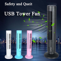 Wholesale Air Fan Bladeless - Advanced USB fan New Mini Portable USB Cooling Air Conditioner Purifier Tower Bladeless Desk Fan 2017 Newest Gadget
