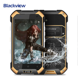 Wholesale Dual Sim Android Ip68 - Blackview BV6000S 4G LTE IP68 4.7'' HD MT6735 Quad Core Android 6.0 Mobile Cell Phone 2GB RAM 16GB ROM Waterproof Smartphone