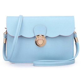 Wholesale Ice Cream Covers - Wholesale-2016 new crossbody bags for women bag ice cream color pu shoulder mini double cross pattern bag female messenger bag for women