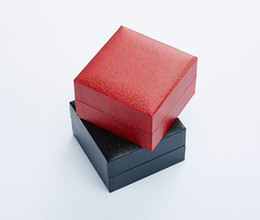 Wholesale Black Dress Jewelry Storage - 2017New Fashion Arrival Lychee Pattern Square Shape Watch Box Foam Pad Jewelry Case with Bracelet Chain Storage Display Boxes