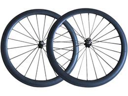 Wholesale Carbon Fiber Alloy Wheels - 27.5 mm Width 50mm Clincher Road Bike Wheels 3k Matte Finish Carbon Fiber Road Bike Wheels Novatec Hub with CN Spokes