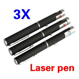 Wholesale Fl Green - Wholesale- Hot Sell Gag Toys 3x 5mw Green Blue Violet Red Combo Laser Pointer Pen Beam Powerful Fast Novelty Toy FL