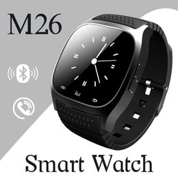 Wholesale Wrist Watch Alarm For Kids - M26 smartwatch Wirelss Bluetooth Smart Watch Phone Bracelet Camera Remote Control Anti-lost alarm dz09 A1 U8 watch for IOS Android