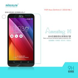 Wholesale Nillkin Screen Protector Wholesale - Wholesale-New for ASUS Zenfone 2 ZE551ML NILLKIN Amazing H Nanometer Anti-Explosion Tempered Glass Screen Protector free shipping