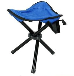 Wholesale Camping Tripod - Wholesale- Outdoor Camping Tripod Folding Stool Chair Fishing Foldable Portable Fishing Mate Chair
