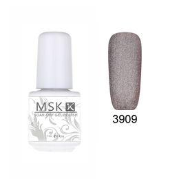 Wholesale 48 Color Uv Gel - Wholesale- MSK Gel polish 48 color matte Velvet soak off uv led gel nail polish nail art 5ml 3909