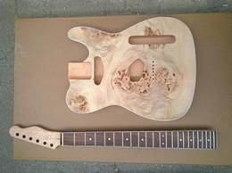 Wholesale custom veneer - Wholesale- Alder wood burl veneer top Tl custom guitar kit