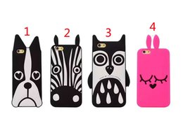 Wholesale Interesting Iphone Cases - For iPhone 6 6plus Charming Cool Interesting Funny rabbit Pink Cute Cartoon 3D Dog Silicon Spell Phone Case Cases for iphone 7