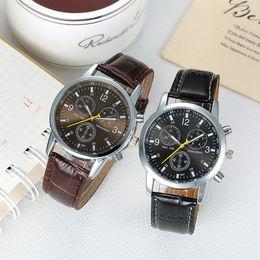 Wholesale Womens Watches Digital - Womens Mens Luxury Gift Designer Brand Wristwatch Brown Leather Quartz Wrist Watch Fashion Swiss Luxury watch
