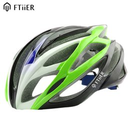 Wholesale Head Mold - Ftiier Cycling Helmet Road Safety Riding Mountain In-mold Bike Helmet Ultralight Bicycle Helmet Head Protection 56-62CM