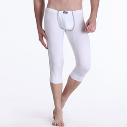 Wholesale Mens Long Sexy Shorts - 2017 Winter Thermal Underpants Mens Short Warm Long Johns Sexy U Convex Pouch Male Slim fit Tight Underwears Cotton Brand