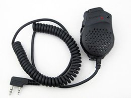 Wholesale Baofeng Radio Mic - Baofeng uv-82 Dual PTT Speaker Mic Microphone for CB Two Way Radio UV-82 UV-82L UV-8 UV-8D UV-89 GT-5 Walkie Talkie