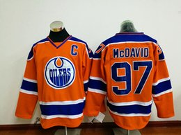 Wholesale Discount Hoodies Sport - Orange #97 McDavid Hockey Jersey with C Patch Cheap Edmonton Oilers Sports Hoodies Embroidered Jerseys 2017 Discount Men Hockey Uniform