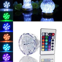 Moda Rodada Super Brilhante RGB Multicolors LED Submersível LEVOU Floralyte Luz LED Copo de Luz Com Controle Remoto Para A Decoração Do Casamento de