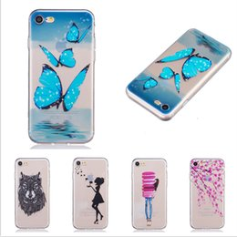 Wholesale Iphone Shells - For iPhone 7 Case Ultra Thin Soft TPU Silicone Transparent Shockproof Protective Cover for iphone 7 Cell Phone Shell (2017 Hot)