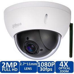 Wholesale Dome Indoor Wireless - Original Dahua DH-SD22204T-GN-W Onvif 2.0 Megapixel IR Pan Tilt Dome Outdoor IP Wireless WIFI IP Camera SD22204T-GN-W free power