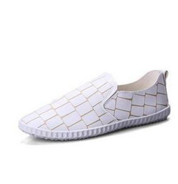 Wholesale Korean Summer Shoes Men - Explosive summer male canvas shoes Korean casual leather small white shoes breathable wild lazy shoes