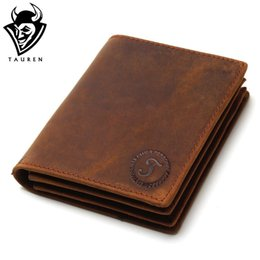 Wholesale Handmade Leather Coin Purse - Wholesale- 2017 Vintage Crazy Horse Handmade Leather Men Wallets Multi-Functional Cowhide Coin Purse Genuine Leather Wallet For Men