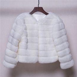Wholesale Coat Winter For Bride - Soft Warm Winter Bridal Jacket Coat Long Sleeves Fur Wedding Jacket Fashion White Jacket For Bride Medium Style Free Shipping