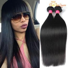 Горячая красота девственные волосы онлайн-Оптовая 8а Роза волос бразильские девственные волосы прямые необработанные бразильские прямые человеческие волосы ткать горячие продукты красоты быстрая бесплатная доставка