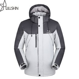 Wholesale Mens Waterproof Winter Hat - Wholesale- Plus size for mens casual parka coats with hooded for winter season waterproof and windproof WQ9901