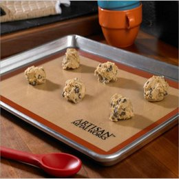 Wholesale Pastry Trays - Non-Stick Silicone Pastry Bakeware Baking Mat Tray Oven Dough Rolling Liner Sheet 28cm*42cm*0.7mm Safely Baking Pastry Tools
