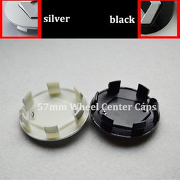 Wholesale Renault Wheel Covers - 57mm black silver auto wheel caps car wheel center hub caps for Renault Megane Clio Laguna Twingo Espace auto embelm covers