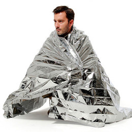 Wholesale Thermal Pet Blanket - Hiking & Camping Supplies Silvery Mylar Waterproof Emergency Rescue Space Foil Thermal Blanket Outdoor Pads PET 10 PCS