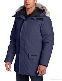 Wholesale Men Arctic Parka - Original canadians brand men feather Down Jacket Big Removable Raccoon fur warm Coat protection against winter Thick Arctic Parka