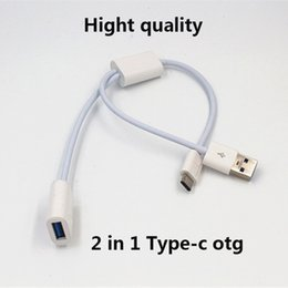 Wholesale Usb Otg Sync Cable - Hight quality 2 in 1 Type C OTG USB Data Sync Charge Cable for Huawei P9 for OnePlus 2 Xiaomi Samsung note 7