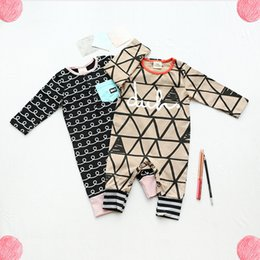 Wholesale Jumpsuits For Spring Sleeves - Ins Hot Selling 2017 Children Clothing Infant Baby Soft Cotton Rompers Newborn Toddlers Onesies Climb Jumpsuit For 0-3Y